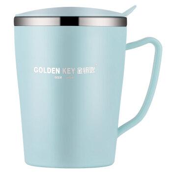 金鍵(GOLDEN KEY)304スティンレス子供二層プラスチック鋼断熱断熱断熱テープカバー水杯350 ml(ミントグリーン)GK-RT 350 B-G