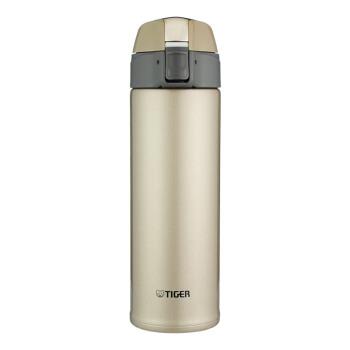 TIGER/タイガープレートスタレス保温カップ真空ストレートカップ男女一ボタンで蓋水杯MMQ-250 Cシャンパン金NHを開けます。