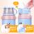 Face子供用保温コップコップコップコップコップ付きストロキャップ付き男女小学生用保温コップ304スティンレス幼稚園投げ防止水筒ミニシマウマ(カップカバー付き)550 ML