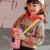 クールMA萌え子供用保温コップストロー付き水筒316ステロイド赤ちゃん学飲コップ保温ポット漫画カップ熊本熊600 mlピンク風船愛