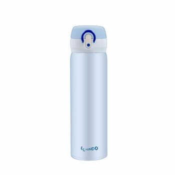保温カップ男女携帯304スティンレス学生簡単ジャンプカバー水瓶大容量500 ml空色500 ml