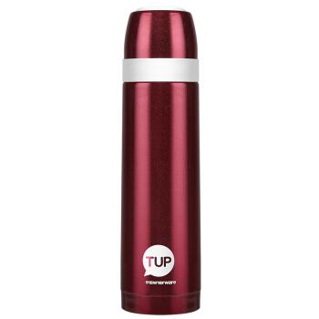 タッパーウェア(Tupperware)保温カップ真空保温ボトルスティンレスカップル学生ビジネスカップ保温コップ500 ml大赤ボトル