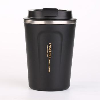 製品の各家庭の製品(PINKAH)の車の携帯用のベルトカバー付きのタンブラーカップの男性保温コーヒーカップの女性用コップ380 mlの黒鉛黒