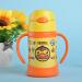食魔師(THERMOS)子供ストロカープディズニーキャラクター水杯赤ちゃん学飲コップ輸入双耳保温カップFHI-250 BD-黄色大黄鴨
