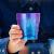 日本HORIE輸入チタンカップ七夕プレゼントカップルカップ一杯純チタンカップコーヒーカップとお茶グラスの唯美結婚プレゼント250 ml包装ブルー雪花250 ml