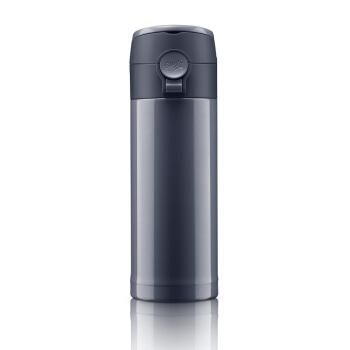 愛慕のサーEMSAライン川シリーズ保温カップ携帯ワンタッチで大容量316 Lのステレット茶ストリップ380 ml