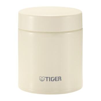 タイガータイガーの煮込んだ大容量の保温カップ真空ステアリングの保温弁当箱携帯弁当箱MCH-350 C-CK米白色500 ml