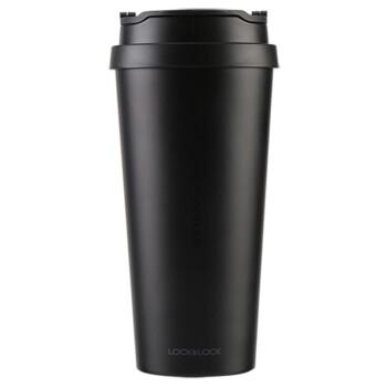 ロックロックロック(LOCK&LOCK)ステアリングカップ車載カバー水杯ビジネスコーヒーカップ540 mlブラックLHC 4151BLK